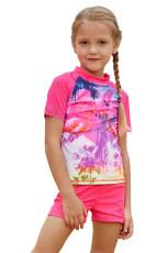 Girls Beach Day Comfortable Shirt og Short Set