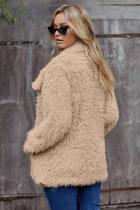 Khaki pels langermet jakke
