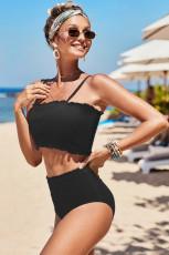 Bikini taille haute noir