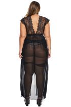 Musta Plus-koko lukittu poissa rakastajan alusvaatteita
