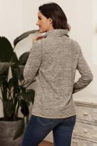 Sweat-shirt zippé à capuche kaki