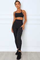 Charcoal Leopard Sports BH and Legging Set