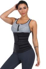 Shaper per il corpo in neoprene con cinturini sportivi neri per sauna