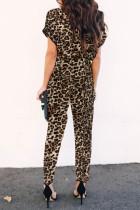 Elegantní kombinéza s leopardím potiskem