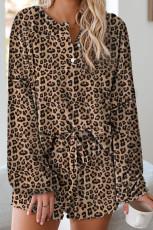 Sada pletených pyžamů Leopard Tie Dye