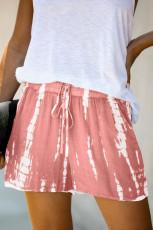 Vaaleanpunainen Tie Dye kiristysnauha rento shortsit
