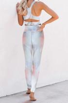 Tie-dye Print Sport Bra Pants Set