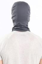 Szara kominiarka rowerowa z oddychającą, pyłoszczelną maską na twarz
