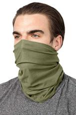 Guêtre de cou de bandana de visage d'escalade de cyclisme en plein air vert