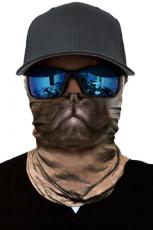 Brązowy nadruk na rowerze Rowerowy szalik na głowę Szalik na szyję, cieplejsza maska na twarz