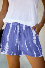 Sininen Tie väri kiristysnauha rento shortsit