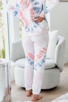 Utopia Bawełniana bluza z kapturem i barwnikami Joggers Loungewear