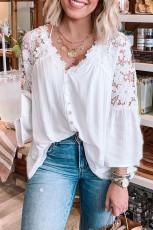Bişkok Lace Button Top