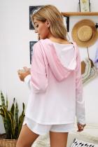 Vaaleanpunainen Dip Dye -huppari Lounge-puserohousut
