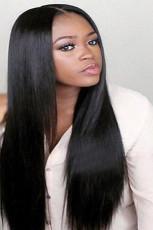 Perruque longue droite femme noire