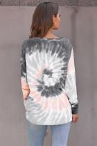 Sweat-shirt de loisirs lâche dégradé gris
