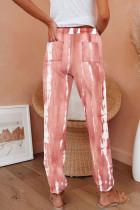 Rózsaszín zsebű tie-festék kötött kocogók