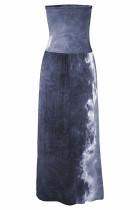Szürke Bohém Bandeau nyomtatási Maxi ruha