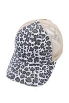 Harmaa Leopard-painettu korkki