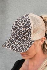 Ruskea leopardi painettu korkki