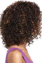 Perruque brune afro-américaine femme brune