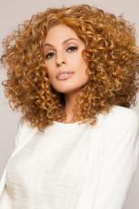 Perruque femme brune afro-américaine dorée