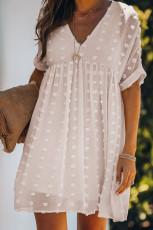 Φόρεμα Λευκό Fever Pitch Pom Babydoll