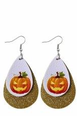 Halloween tök nyomtatás flitteres dupla fülbevalók