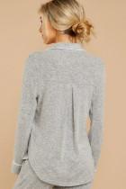 Loungewear grigio con coulisse a maniche lunghe