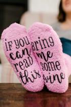 Betűk nyomtatása pamut zokni