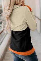 Czarna bluza Halloween z nadrukiem w dynie i dekoltem w kształcie dyni