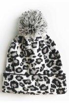 Valkoinen Leopard Pom -pipo
