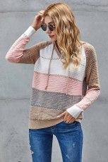 Sweat à capuche en tricot multicolore Beach Bonfire
