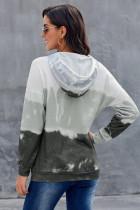 Sweat à capuche gris à manches longues et dégradé