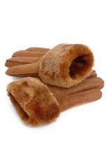 Gants de raquette en faux suède doublés de molleton épais kaki