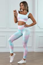Multicolor Tie Dye Print Yogasett