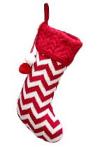 Piros Pompom karácsonyi függő zokni