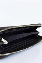 Ponadczasowy portfel ze sztucznej skóry w kratkę