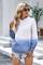 Áo khoác dài tay màu xanh da trời Gradient