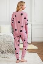 To-delt sett med rosa stjerneutstyr