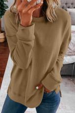 Bluza z długim rękawem w kolorze khaki