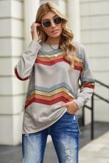 Grå färgblock klassisk tröja