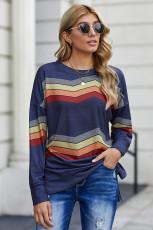 Blå Colour Block klassisk tröja
