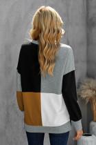 Color Block Rundhalsausschnitt Langarm Pullover Sweatshirt