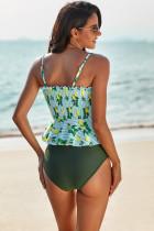 Bikini xanh lá chanh in Peplum