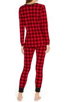 Rode geruite twee stukken loungewear