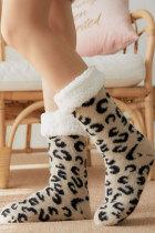Leopárdmintás meleg alvó zokni