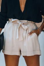 Puuvillaiset taskut paperipussi vyötärö shortsit