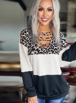 Haut à manches longues imprimé léopard