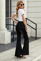 Pantalon en denim avec pantalon en détresse noir